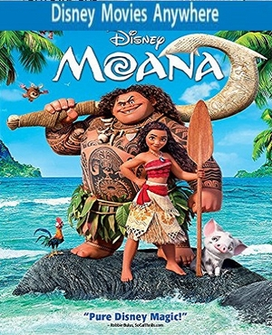 Moana HD DMA / DMR Code, Vudu or iTUNES + 150 Points FULL CODE