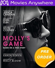 Molly's Game HD iTunes Code via MA     (PRE-ORDER WILL EMAIL ON OR BEFORE 4-10-18 AT NIGHT)