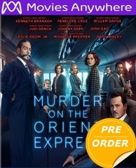 Murder On The Orient Express HD UV or iTunes Code     (PRE-ORDER WILL EMAIL ON OR BEFORE 2-27-18 AT NIGHT)