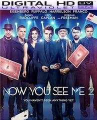 Now You See Me 2 HD Digital Ultraviolet UV Code