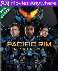 Pacific Rim Uprising HD UV or iTunes Code Via MA     (PRE-ORDER WILL EMAIL ON OR BEFORE 6-19-18 AT NIGHT)