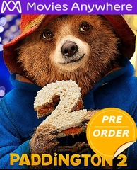 Paddington 2 HD UV or iTunes Code     (PRE-ORDER WILL EMAIL ON OR BEFORE 4-24-18 AT NIGHT)