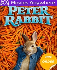 Peter Rabbit HD UV or iTunes Code     (PRE-ORDER WILL EMAIL ON OR BEFORE 5-1-18 AT NIGHT)