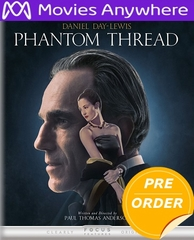 Phantom Thread HD UV or iTunes Code via MA     (PRE-ORDER WILL EMAIL ON OR BEFORE 4-10-18 AT NIGHT)
