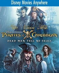 Pirates Of The Caribbean: Dead Men Tell No Tales HD Ultraviolet, DMA or iTunes Code