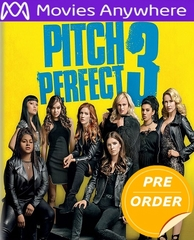 Pitch Perfect 3 HD UV or iTunes Code via MA     (PRE-ORDER WILL EMAIL ON OR BEFORE 3-20-18 AT NIGHT)