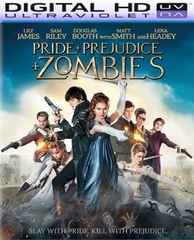 Pride + Prejudice + Zombies HD Digital Ultraviolet UV Code