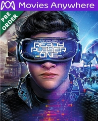 Ready Player One HD UV or iTunes Code via MA (PRE-ORDER WILL EMAIL ON OR BEFORE BLU-RAY RELEASE DATE)