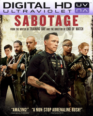 Sabotage HD Digital Ultraviolet UV Code