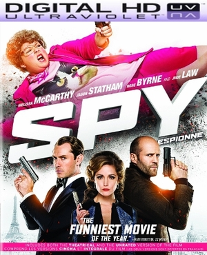 Spy Unrated HD Digital Ultraviolet UV Code (VUDU or iTunes)