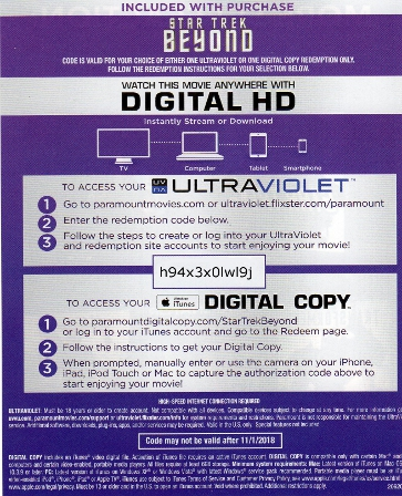 Buy digital movie codes - Ultraviolet, iTunes and Disney digital movie search engine. Find uv, itunes, google play, disney, ultraviolet movie codes. Endless list of ultraviolet and itunes hd and sd codes.
