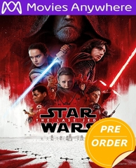 Star Wars: The Last Jedi HD Movies Anywhere Code (PRE-ORDER WILL EMAIL ON OR BEFORE 3-27-18 AT NIGHT)