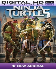 Teenage Mutant Ninja Turtles HD Digital Ultraviolet UV Code
