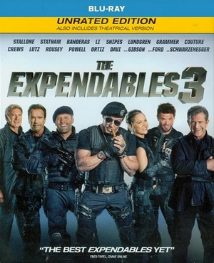 The Expendables 3 Blu-ray Unrated Edition & Theatrical Version Single Disc