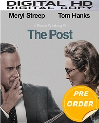 The Post HD UV or iTunes Code (PRE-ORDER WILL EMAIL ON OR BEFORE 4-17-18 AT NIGHT)