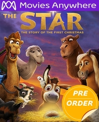 The Star HD UV or iTunes Code via Movies Anywhere     (PRE-ORDER WILL EMAIL ON OR BEFORE 2-20-18 AT NIGHT)