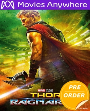Thor: Ragnarok HD UV or iTunes Code 24hr FLASH SALE     (PRE-ORDER RELEASE DATE NOT YET ANNOUNCED WILL EMAIL ON OR BEFORE BLU-RAY RELEASE DATE LATE FEBRUARY)