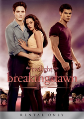 Twilight Saga Breaking Dawn Rental DVD