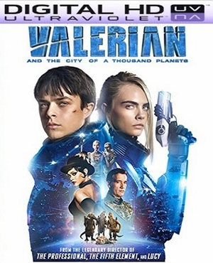 Valerian City of A Thousand Planets HD Ultraviolet UV Code