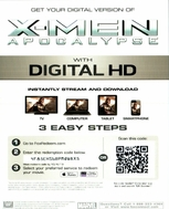 X-men: Apocalypse HD Ultraviolet UV or iTUNES Code  (LIMITED QUANTITY)