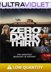 Zero Dark Thirty SD Digital Ultraviolet UV Code