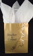 Large Gold Personalized Welcome Bag