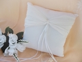 Ring Bearer Bridal Pillow with Rhinestone and Ribbon