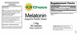 K9 Choice Melatonin 1 mg 180 capsules