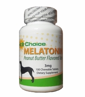 New! K9 Choice Chewable 3 mg Melatonin for Dogs: Peanut Butter Flavor 120 Tabs