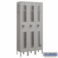 "12"" Vented Metal Locker - Single Tier - 3 Wide - 6 Feet High - 12 Inches Deep - Gray, Tan or Blue"