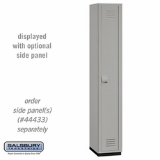 Single Tier Heavy Duty Plastic Locker - 1 Wide - 6 Feet High - 18 Inches Deep