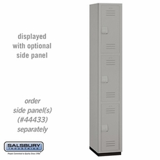 Triple Tier Heavy Duty Plastic Locker - 1 Wide - 6 Feet High - 18 Inches Deep