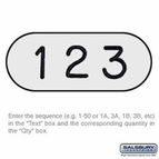 Custom Engraved Number Plate - for Heavy Duty Plastic Locker Door