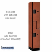 "Designer Wood Locker - Double Tier ""S"" Style - 1 Wide - 6 Feet High - 18 or 21 Inches Deep - Cherry"
