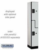 "Designer Wood Locker - Double Tier ""S"" Style - 1 Wide - 6 Feet High - 18 or 21 Inches Deep - Gray"