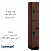 "Designer Wood Locker - Double Tier ""S"" Style - 1 Wide - 6 Feet High - 18 or 21 Inches Deep - Mahogany"