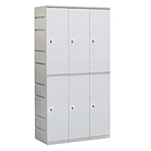 Plastic Lockers - Double Tier