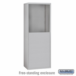 Free-Standing Enclosure for 10 Door Recessed Cell Phone Locker