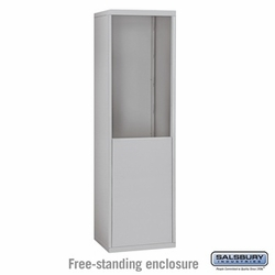 Free-Standing Enclosure for 18 Door Recessed Cell Phone Locker