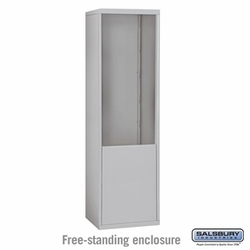Free-Standing Enclosure for 21 Door Recessed Cell Phone Locker