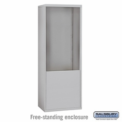 Free-Standing Enclosure for 24 Door Recessed Cell Phone Locker