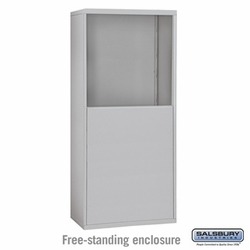 Free-Standing Enclosure for 25 Door Recessed Cell Phone Locker
