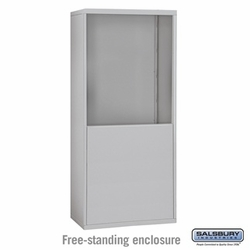 Free-Standing Enclosure for 30 Door Recessed Cell Phone Locker