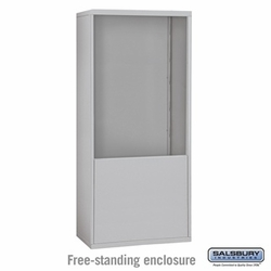 Free-Standing Enclosure for 35 Door Recessed Cell Phone Locker