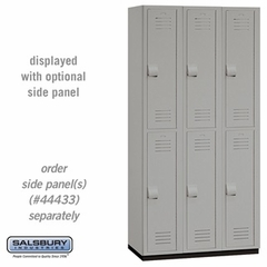 "Heavy Duty Plastic Locker - Double Tier - 6' High - 18"" Deep - Gray, Tan or Blue"