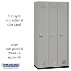 Single Tier  Heavy Duty Plastic Locker - 3 Wide - 6 Feet High - 18 Inches Deep