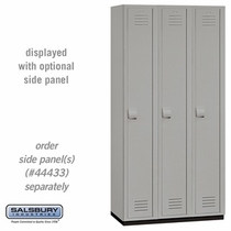 Heavy Duty Plastic Locker - Single Tier - 3 Wide - 6 Feet High - 18 Inches Deep