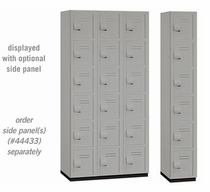 "Heavy Duty Plastic Box Locker - Six Tier - 6' High - 18"" Deep - Gray, Tan or Blue"