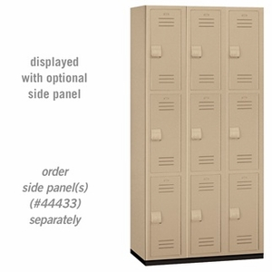 "Heavy Duty Plastic Locker - Triple Tier - 6' High - 18"" Deep"