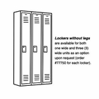 Lockers without legs for 1 Wide and 3 Wide Lockers